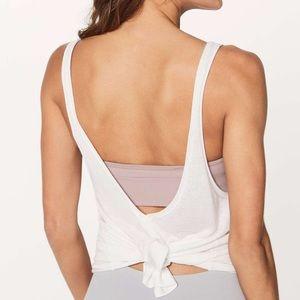 Lululemon White Heart Opener Knit Cami Tank Top